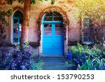 Blue Entrance - stock photo