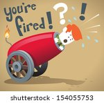 Corporate Guy gets fired   - stock vector