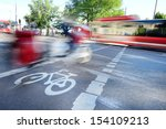 Blurred traffic - stock photo