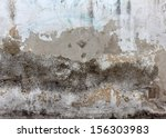 Wall with cracked paint - stock photo