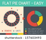 Flat Pie Chart - stock vector