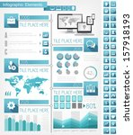 Vector technology infographic timeline. Infographic technology template for presentation design. Infographic Includes vector elements such as diagrams, charts, bars, technology icons, infographic map. - stock vector