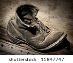 Old Boot - stock photo