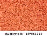 orange decorative plaster coat - stock photo
