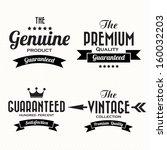 Retro vintage badges and labels.Illustration eps10  - stock vector