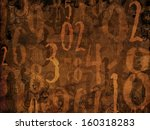 magic book numbers brown background illustration - stock photo