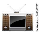 vintage TV. vector - stock vector