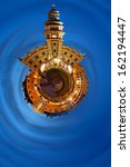 Little city planet - a vision of humorous. - stock photo