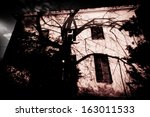 Abandoned horror house - stock photo