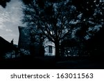 Old Spooky Abandoned House - stock photo