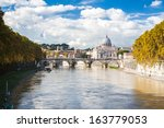 St. Peter's Basilica in Rome, Italy - stock photo