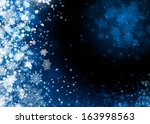 Xmas snow abstract background illustration - stock photo