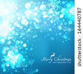 Blue Christmas Background vector - stock vector