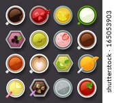 drink icon set - stock vector