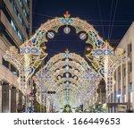 KOBE, JAPAN - DECEMBER 12: Luminarie light festival December 12, 2012 in Kobe, JP. The annual festival commemorates the 1995 Great Hanshin Earthquake. - stock photo