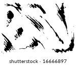 Set of grunge splash vector - stock vector