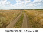 rural dirty road - stock photo