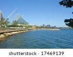 A picture of Milwaukee lake shore on beautiful day - stock photo