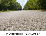 image of asphalt from near distance - stock photo
