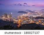 Busan, south Korea skyline. - stock photo