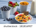 Healthy breakfast ready to eat - stock photo