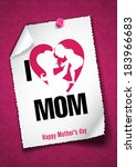Greeting Card Design, Template. Happy Mother�¢??s Day. Vector Illustration. Eps 10. - stock vector