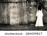 Horror scene of a scary woman - stock photo