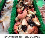 Beautiful Florida stone crabs - stock photo