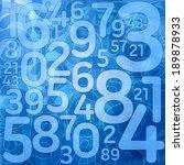 blue number science background illustration - stock photo