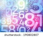colorful random number math background illustration - stock photo