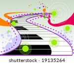 Keyboard Background Design - Vector - stock vector
