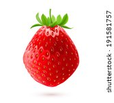 Realistic illustration of delicious fresh strawberry isolated on white background - stock vector