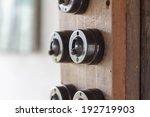 Retro style light switch - stock photo