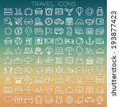 travel line icons set - stock vector