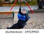 Playing in the park - stock photo