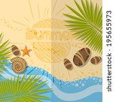 Summer Beach Background. Vector Illustration. Eps 10 - stock vector
