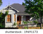 Colonial cottage in New Zealand - stock photo