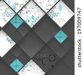 Abstract 3D Geometrical Design.  Vector Illustration. Eps 10 - stock vector