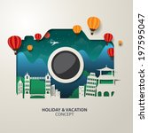 Infographics camera Travel and Vacation concept elements.  - stock vector