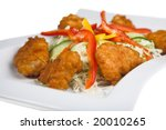 nice fresh food isolated on the white - stock photo