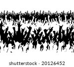 Editable vector illustration of a large crowd - stock vector