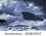 """SOS.""""Save Our Ship"""" concept for general broadcasting help signal. - stock photo"""