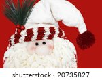 folklore santa claus face - stock photo