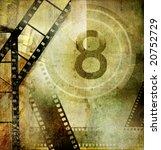 vintage movies background - stock photo