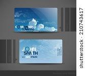 Business Card Design.  Vector Illustration. Eps 10 - stock vector