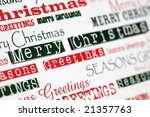 christmas messages in different fonts - stock photo