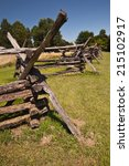 Vertical shot of old civil war fences at Harper's Ferry National Park - stock photo