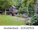 The Old Grist Mill at Babcock State Park, WV - stock photo