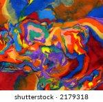 Plasticine bright vivid psychedelic colors background - stock photo