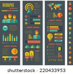 Flat design vector technology infographic. Web infographic template for technology design. Web infographic Includes vector elements: diagrams, charts, bars, technology icon set, infographic map. - stock vector
